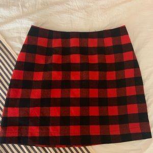 Buffalo plaid skirt